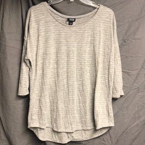 a.n.a. Shirt. L. Grey with gold metallic stripes